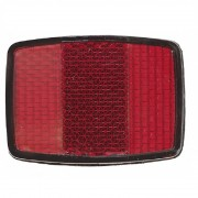 Réflecteur arrière rouge rectangulaire