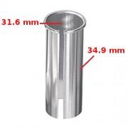 Réducteur de tige de selle 31.6 vers 34.9 mm adaptateur argent