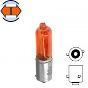 Ampoule halogène 12V 6W BAX9S orange