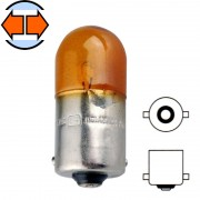 Ampoule 12V 10W BA15S orange graisseur