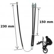 Câble frein BMX supérieur 2x 150 mm + 230 mm