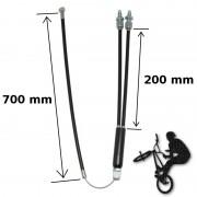 Câble frein BMX inférieur 2x 200 mm + 700 mm