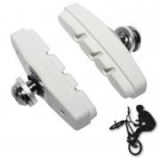 Patins de frein FIXIE BMX 50mm blanc (paire)