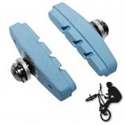 Patins de frein FIXIE BMX 50mm bleu (paire)