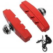 Patins de frein FIXIE BMX 50mm rouge (paire)