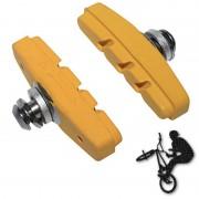 Patins de frein FIXIE BMX 50mm jaune (paire)