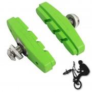 Patins de frein FIXIE BMX 50mm vert (paire)