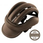 """Casquette """"casque"""" vintage à boudins marron 57 à 61 cm"""