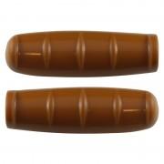 Poignée vintage marron lisse 100mm