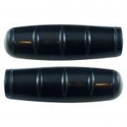 Poignée vintage noir lisse 100mm