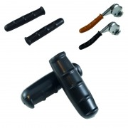 Kit paire de poignées et couvres leviers de frein vélo vintage noir