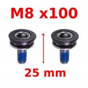Vis de serrage manivelle M8x100 SHIMANO