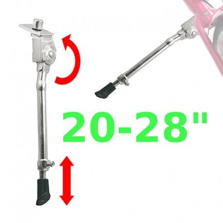 Béquille latérale réglable pour vélo 20 à 28 pouces