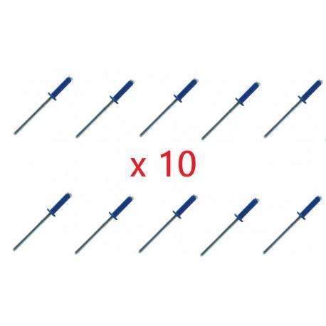 kit de 10 rivets bleus plaque d 39 immatriculation cyclingcolors. Black Bedroom Furniture Sets. Home Design Ideas