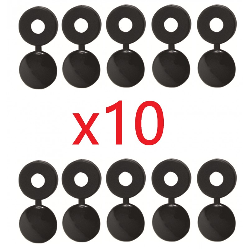 kit de 10 cache rivets noirs plaque d 39 immatriculation cyclingcolors. Black Bedroom Furniture Sets. Home Design Ideas