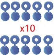 Kit de 10 cache rivets bleus plaque d'immatriculation