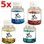 Embouts gaine dérailleur 4mm vélo cyclomoteur moto (x5) bleu rouge jaune vert
