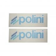Autocollant stickers POLINI 8x23cm spécial carrosserie (détouré)