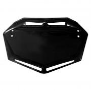 Plaque BMX TRAIL MOTOCROSS MX support numéro AERO noir
