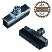 2x PATINS DE FREIN AVANT LISSE 45mm VELO CYCLE VINTAGE TYPE MAFAC WEINMANN