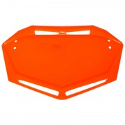 Plaque BMX TRAIL MOTOCROSS MX support numéro AERO orange