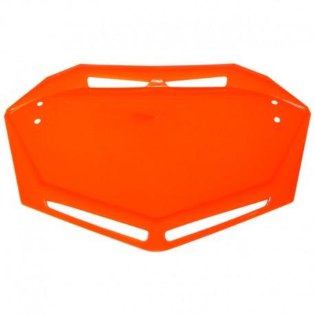 Plaque BMX TRAIL MOTOCROSS MX support numéro AERO orange