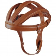 CASQUE BOUDIN VINTAGE MARRON REPRODUCTION CUIR VELO COURSE ANNEE 60 70 LEROICA CASQUETTE