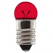 Ampoule 6V 0.6W E10 rouge feu dynamo arrière vélo à visser