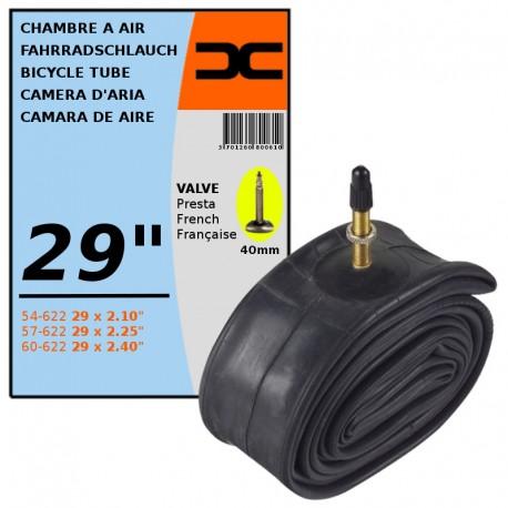 Chambre a air velo 29 x 2 10 2 40 54 60 622 valve presta 40mm route vtt cyclingcolors - Chambre a air velo route 700x23 ...