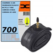 CHAMBRE A AIR VELO 700x19C 23C (19/23-622) VALVE PRESTA 50MM ROAD