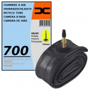 CHAMBRE A AIR VELO 700x25C 28C (25/28-622) VALVE PRESTA 50MM ROUTE COURSE