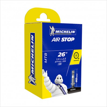 "CHAMBRE A AIR MICHELIN VELO 26 x 1,50-2,50"" (37/62-559) C4 VALVE REGINA 40MM"