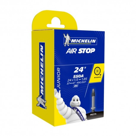 "CHAMBRE A AIR VELO MICHELIN 24 x 1,50-1,85"" (37/47-490/507) E4 VALVE PRESTA 30mm"