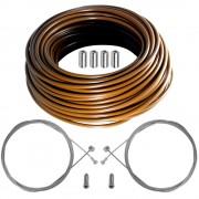 kit câble gaine de frein téflon marron avant arrière vélo route vtt universel
