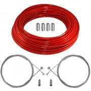 kit câble gaine de frein téflon rouge avant arrière vélo route vtt universel