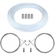 kit câble gaine de frein téflon blanc avant arrière vélo route vtt universel