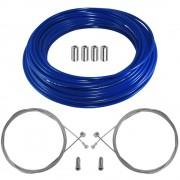kit câble gaine de frein téflon bleu avant arrière vélo route vtt universel