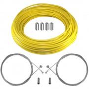 kit câble gaine de frein téflon jaune avant arrière vélo route vtt universel