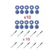 Lot de 10 Rivets + Cache Rivet bleu Plaque D'IMMATRICULATION Voiture Auto Moto Scooter MOBYLETTE Protection Plastique Aveugle