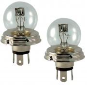 2x AMPOULE 12V 45/40W P45T R2 TRANSPARENT PHARE LAMPE CODE VOITURE ANCIENNE VINTAGE RETRO