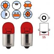 2x AMPOULE 12V 5W BA15S ROUGE GRAISSEUR AUTO MOTO SCOOTER VOITURE FEU LAMPE ARRIÈRE STOP POSITION MOBYLETTE