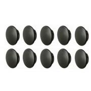 10X BOUCHON PLASTIQUE ROND NOIR 20mm x 23mm CACHE VIS TROU CAPUCHON MEUBLE PROTECTION