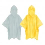 Poncho avec capuche junior enfant vélo randonnée protection pluie intempéries (2 pcs)