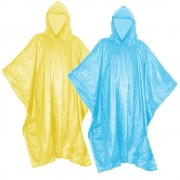 Poncho avec capuche adulte homme femme vélo randonnée protection pluie intempéries (2 pcs)