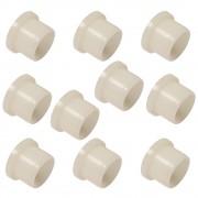 10x Coussinet entretoise épaulée d10mm D16mm L6mm plastique nylon 6.6 vis rondelle collerette