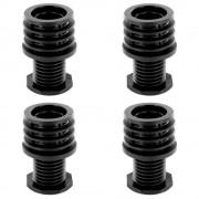 4x Pied de meuble tube rond réglable plastique Ø30mm embout ajustable rentrant outillage