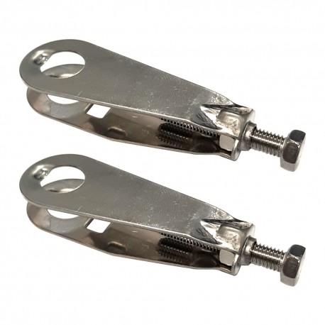 2x tendeur de chaine vélo hollandais batavus 45mm ajusteur tension à vis épaisseur cadre 8mm