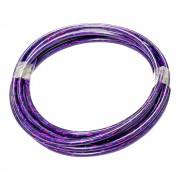 Gaine de frein violet laser irisé au mètre avec insert teflon