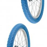 """2x Pneu bleu 18 x 2.00"""" (50-355) slick ORTEM vélo enfant junior mixte route chemin"""