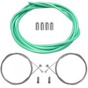 kit câble et gaine de frein vert céleste couleur bianchi avant arrière vélo route vtt vintage